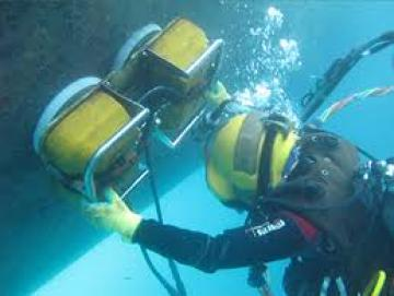 Cleaning The Ship Underwater